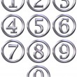 3D Silver Framed Numbers — Stock Photo #1220006