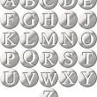 Stock Photo: 3D Steel Framed Alphabet