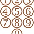 Wooden Framed Numbers — Stock Photo