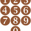 Royalty-Free Stock Photo: Wooden Framed Numbers