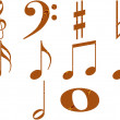 Wooden Music Notes — Stock Photo #1220402
