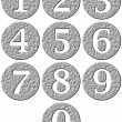 Stock Photo: 3D Stone Framed Numbers