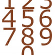 Stock Photo: Wooden Numbers