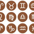 Stock Photo: Wooden Framed Zodiac Signs
