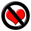 Royalty-Free Stock Photo: 3d anti love sign