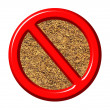 Royalty-Free Stock Photo: 3d anti tobacco sign