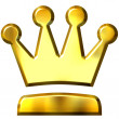 3D Golden Crown — Stock Photo #1222286