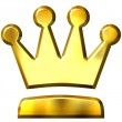 3D Golden Crown — Stock Photo