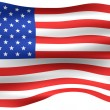 3D USA Flag — Stock Photo