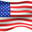 3D USA Flag — Stock Photo #1222656