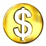 3D Golden Dollar Symbol — Stock Photo #1224017