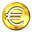 3D Golden Euro Symbol — Stock Photo