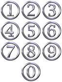 3D Silver Framed Numbers — Stock Photo