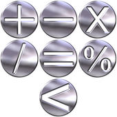 3D Silver Math Symbols — Stock Photo
