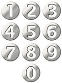 3D Steel Framed Numbers — Stock Photo