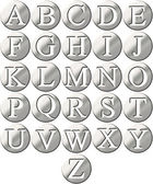 3D Steel Framed Alphabet — Stock Photo