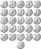 3D Steel Framed Alphabet — Stock Photo