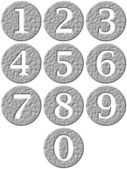3D Stone Framed Numbers — Stock Photo