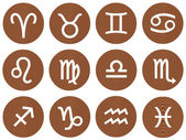 Wooden Framed Zodiac Signs — Stock Photo