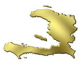 Haiti 3d Golden Map — Stock Photo