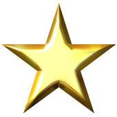 3D Golden Star — Stock Photo