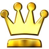 3D Golden Crown — Stock Photo