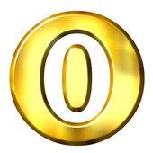 3d altın çerçeveli numarası 0 — Stok fotoğraf