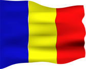 3D Flag of Romania — Stock Photo