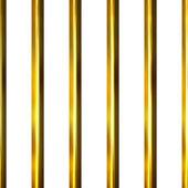 3D Golden Bars — Stock Photo