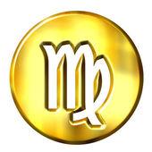 3D Golden Virgo Zodiac Sign — Stock Photo