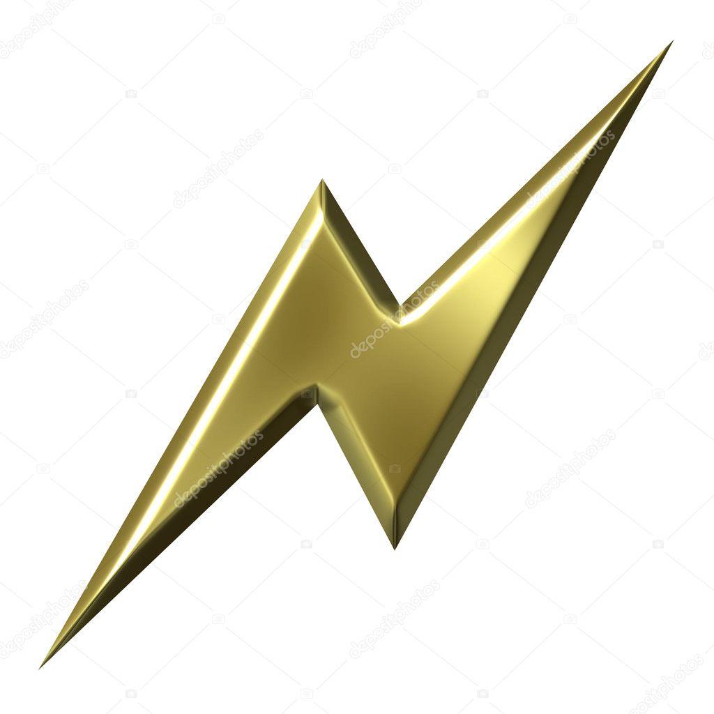 Golden Thunderbolt — Stock Photo © georgios #1222063 Thunderbolt Clipart