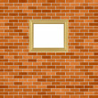 Royalty-Free Stock Photo: Frame on brickwall