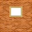Frame on brickwall - Stock Photo