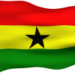 3d flag of ghana — Stock Photo
