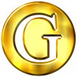 Stock Photo: 3D Golden Letter G