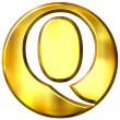 3d golden letter q — Stock Photo