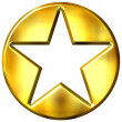 3D Golden Framed Star — Stock Photo #1394749