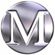 3D Silver Letter M — Stock Photo #1394776