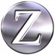 3D Silver Letter Z — Stock Photo