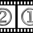 Film strip count down — Stock Photo