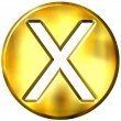 3D Golden Framed Multiplication Symbol — Stockfoto