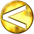3D Golden Strict Inequality Symbol — ストック写真
