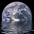 Stock Photo: Sinking Earth