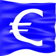 Euro Currency Flag — Stock Photo