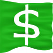 3D Dollar Flag — Stock Photo