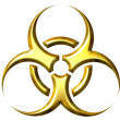 Stock Photo: 3D Golden Biohazard Symbol