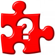 Question mark puzzle piece — Stock Photo