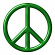 Ecological peace symbol — Stock Photo