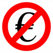 Free of charge anti euro sign — стоковое фото #1395244