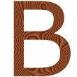 Wooden Letter B — Stock Photo
